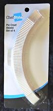 4pc Pie Crust Shields Chef Style Bake/Baking Accessory Chef Style Aluminum NIP