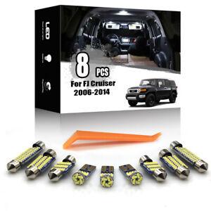 8x For Toyota FJ Cruiser 2007-2014 Car Interior LED Lighting Kit ERROR FREE