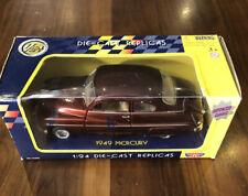 Motor Max 1:24 Die-Cast Replicas 1949 Mercury Car Collector'S Edition Red Wine
