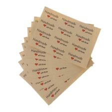 120PCS Vintage Handmade With Love Package Label Kraft Adhesive Baking Stickers