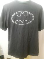 Warner Bros 2005 Batman Logo T-Shirt Black Gray Logo Mens Size XL EUC
