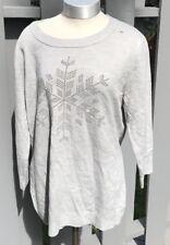 New York Company Xl Gray Rhimestones Sweater