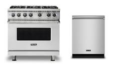 "Viking 36"" Gas Range & Free Dishwasher - New Model -Vgr5366Bss"