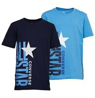 Boys Converse Cotton Short Sleeve Top Jersey T Shirt Sizes Age from 8 to 15 Yrs