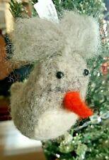 Hallmark Christmas Tree Ornament Rustic Wool Gray Bird Decor set of 6 holiday