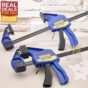 2 x Irwin Quick Grip 300mm 12 Inch bar clamp pack Q/G512QCN XMS21CLAMP12