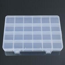 24 Grid Plastic Box Case Jewelry Bead Storage Container Craft Organizer Spirited