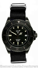 MWC 300m Water Resistant PVD Steel Military Quartz Submariners/Divers Watch