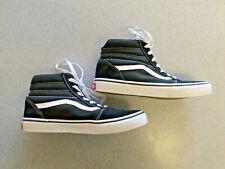 VANS black and white hi top skate shoes 6Y  (eur 38)