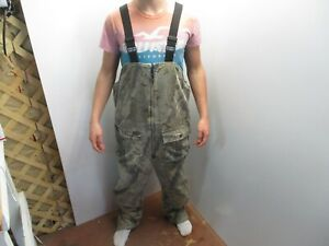 Walls Blizzard Pruf Insulated Overalls Camo Realtree Hardwoods Sz Large Regular
