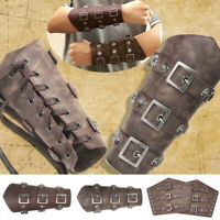 Solid Medieval Warriors Knight PU Leather Barcer Arm Armor Opera Cosplay Costume