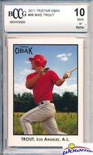 2011 Tristar Obak # 88 Mike Trout ROOKIE BECKETT 10 MINT! LA Angels MVP!