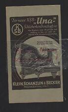 FRANKENTHAL, Werbung 1942, Klein, Schanzlin & Becker Una Schieberkondenstopf