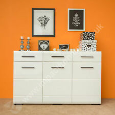 Living Room MDF/Chipboard White Sideboards & Buffets