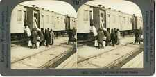 Russia ~ Kansk ~ Train Of Trans-Siberian Railroad Stereoview 14519 T547 19534 fx