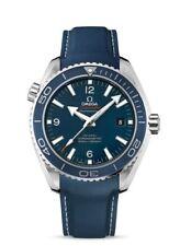22 mm Correa de Caucho & Cierre Para 45.5 mm Omega Seamaster Planet Ocean Azul Marino