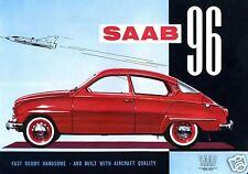 1960 Saab 96, RED, 2 Door Coupe, Refrigerator Magnet, 40 MIL