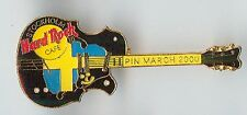 Hard Rock Cafe Stockholm Pin March 2000 Guitar Pin