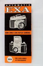 Original Exakta Exa I and Exa II Sales Brochure - 12 pages