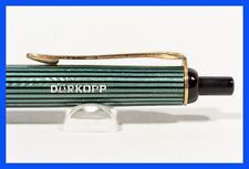 Pelikan 355 dürkopp bolígrafo 50er J. verde-a rayas, diseño clásico