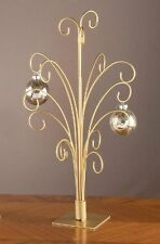 "20"" Gold Metal Ornament Display Tree - Holds 15 ornaments"