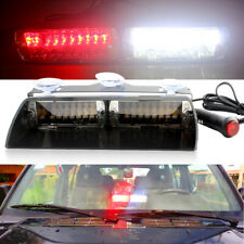 Car 16led 18 Flashing Mode Emergency Vehicle Dash Warning Strobe Light Red/White