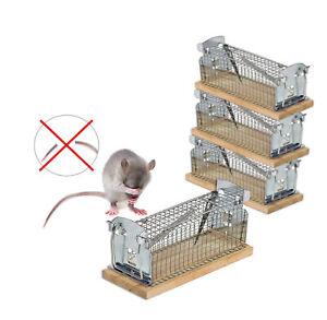 4x Mausefalle Lebend Falle Schwanzschutz Rattenfalle Mäusefalle Drahtkastenfalle