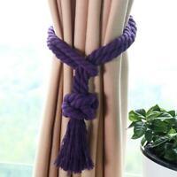 Curtain Tieback Holdbacks Braided Rope Drapes Holder Tassel Curtain Accessory 6L