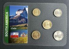 CHILI - CHILE - SET DE 5 MONNAIES DU CHILI DE 1971.