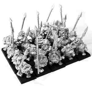 Imperial Dwarf Spearmen Unit x20 28mm Unpainted Metal Wargames