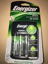 Energizer Recharge Basic Charger with 2 AA NiMH Rechargeable Batteries