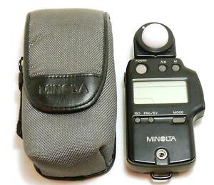 Minolta Auto Meter IVF digital exposure meter with case EXC+ #38157