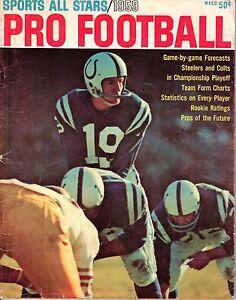 1959 Sports All Stars  Pro Football magazine,Johnny Unitas, Baltimore Colts ~ Fr