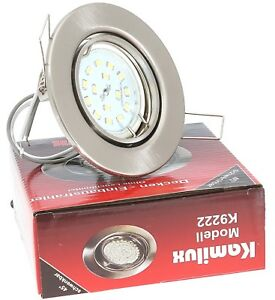 LED Einbaustrahler Einbau-Leuchten Lampe ultra-flach Decken-Spots TOM 5W 230V