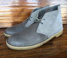 Men's Clarks Originals Desert Chukka Boots Gray Leather 8 M