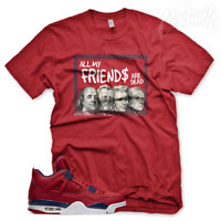 "New Red ""DEAD PRESIDENTS"" T Shirt for Jordan 4 FIBA Gym Red"