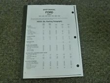 Ford 1120 1220 1320 1520 1720 1920 2120 Tractor Shop Service Repair Manual Book