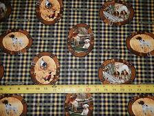 Real Tree dog  field frames cameos golden retriever 10063 pc novelty fabric