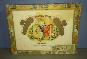 Vintage Cuba Romeo Y Julieta Habana Panetelas Empty Cigar Box