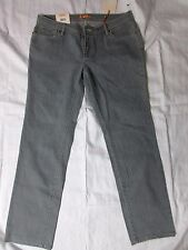Bitten SJP Lt. Gray Premium Straight Leg Jean Women's 14 Short Low Waist NWT