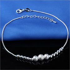 Beads Anklet Beach Anklet Jewelry Fashion Lady 925 Silver Lucky