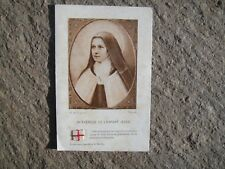 Christian second class relic St. Therese of the Child Jesus vestment holy card