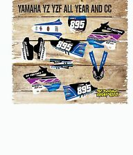 YAMAHA YZ YZF 85 125 250 450 FULL MOTOCROSS GRAPHICS KIT-DECALS-STICKERS-MX-PUR
