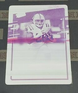 2020 Plates & Patches Jonathan Taylor Donruss Rated Rookie Printing Plate 1/1