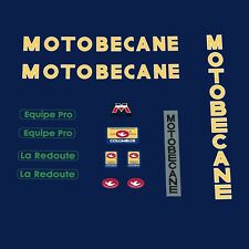 Motobecane Equipe Pro/la Redoute bicyclette autocollants-decals-transfers n.700