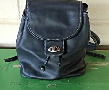 PRESTON & YORK Leather Backpack Black Smooth Leather