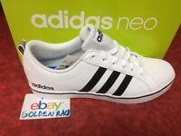 Adidas NEO Men's Pace VS Fashion Sneakers Shoes White Black Blue AW4594 NIB