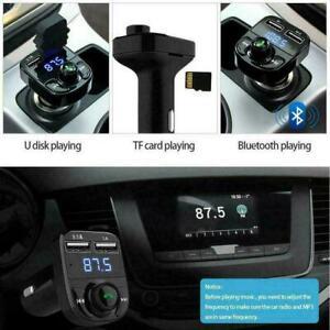 Car Wireless Bluetooth Kit FM Transmitter Handsfree MP3 Charger USB Dual C5W3