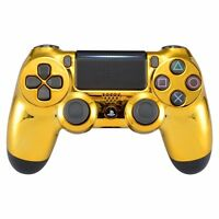 PS4 Controller Gehäuse Case Hülle Chrome Front Cover Gold Slim Pro JDM-040
