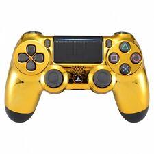 PS4 Controller Gehäuse Case Hülle Chrome Front Cover Gold Slim Pro JDM-040